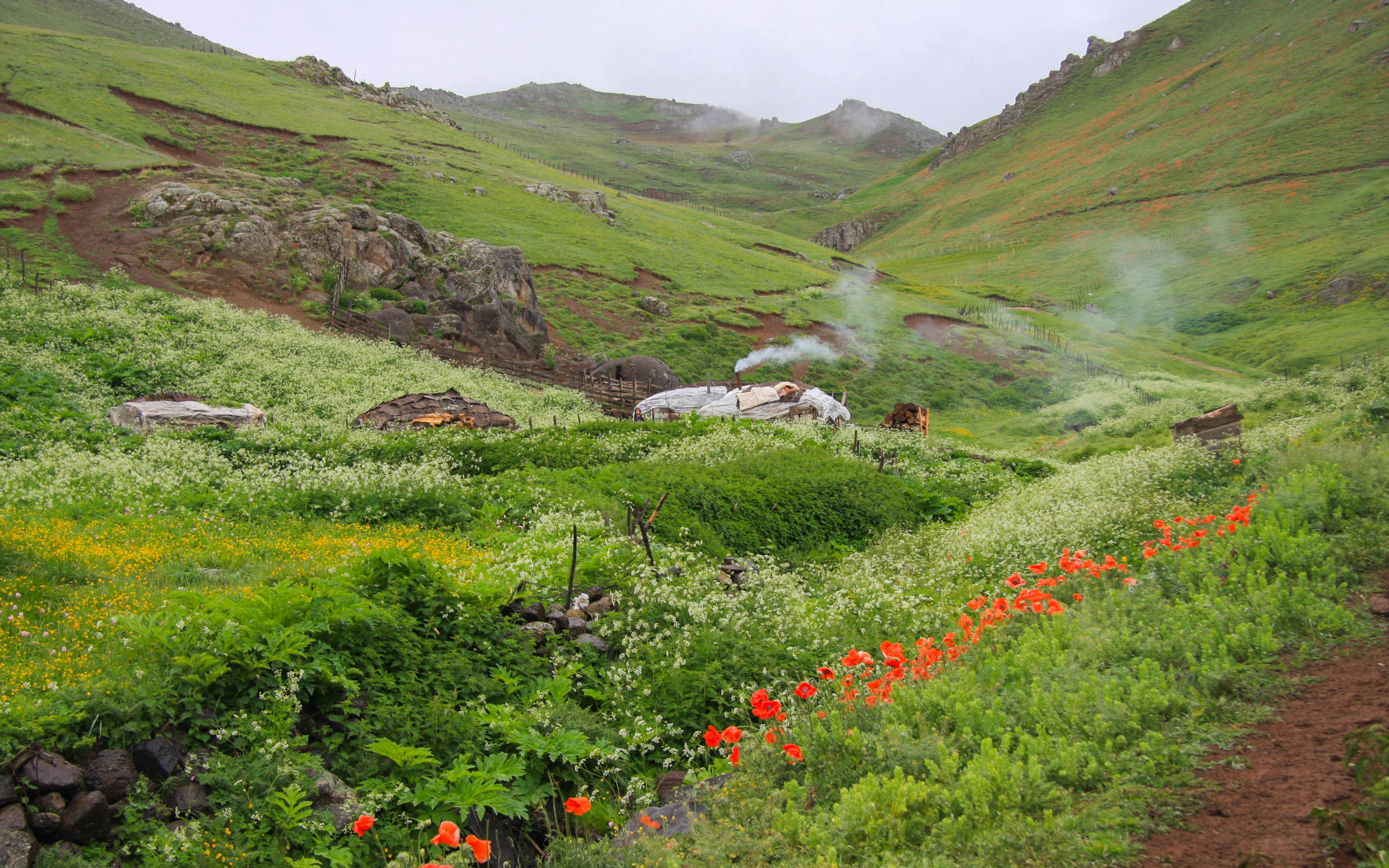 Trekking in Iran hinterland